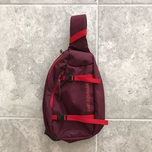 Patagonia Atom 8 Sling Backpack Maroon/Red